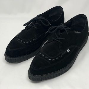 TUK mens 12 black suede lo creepers lace up